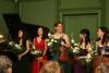 """""""À la Russe"""" 2015, Westphalsches Haus, 29.03.2015, Konzert der Neuen Leipziger Chopin-Gesellschaft, Hyunju Rue - Klavier, Minhee Kim - Klavier, Kathrin ten Hagen - Violine, Han Wen Yu - Klavier, Kajana Pačko - Violoncello"""